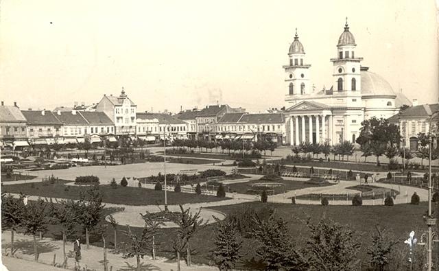 Satu Mare. Piaţa Libertăţii cu Catedrala Romano-Catolică – iMAGO Romaniae